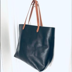 Madewell zip Top Transport Tote - black leather